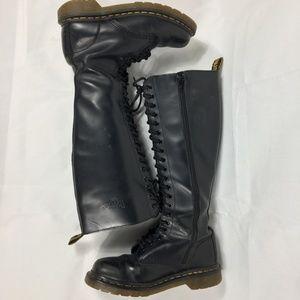 Dr Martens 1B60 Black 20 Eye Tall Boots  Size: 7